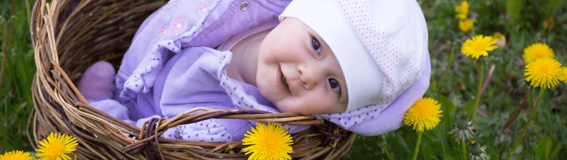 baby inside the basket